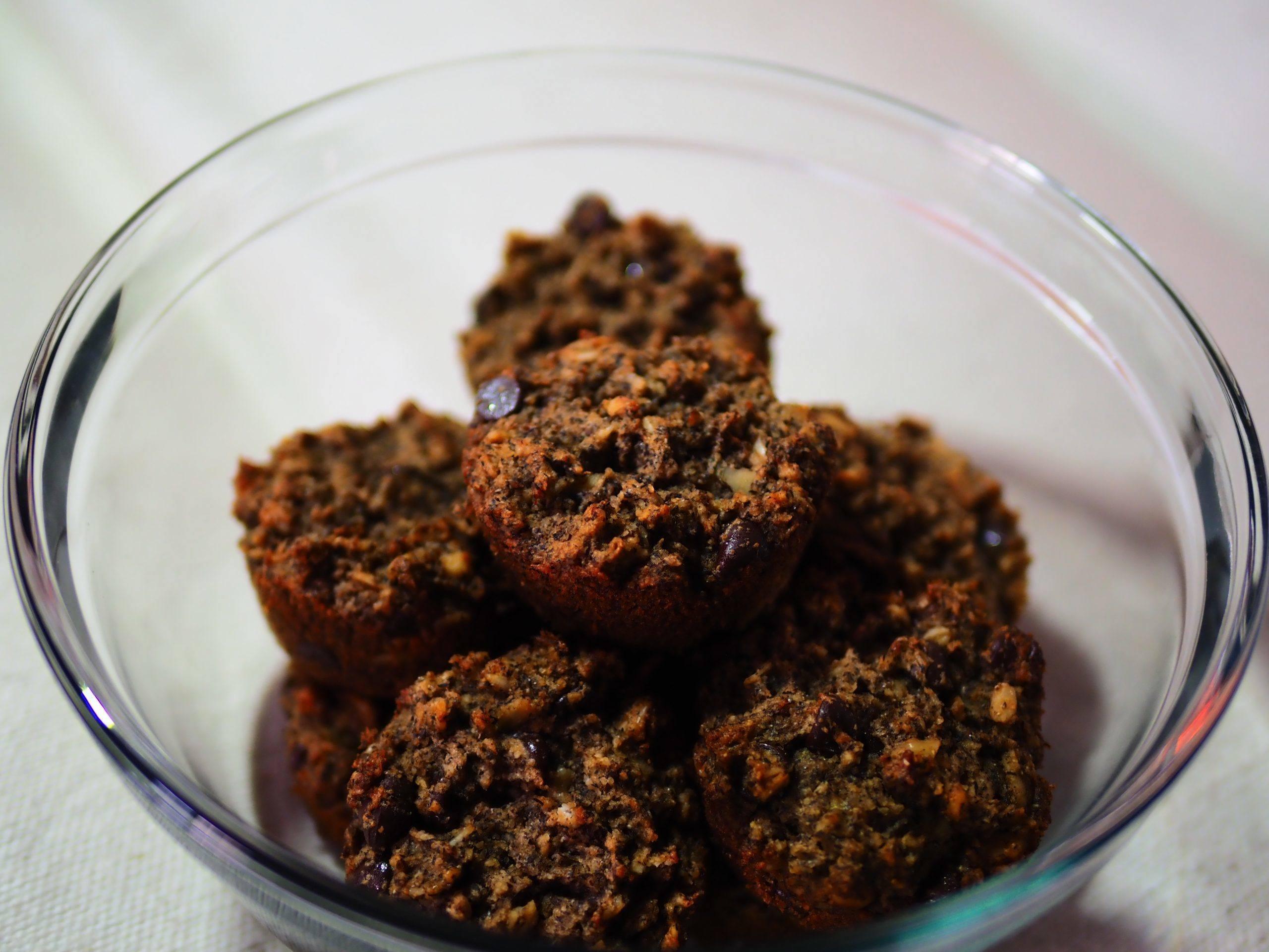 Banana buckwheat chocolate chip muffins SOH